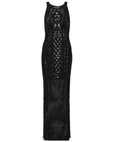Strickkleid in Maxilänge aus Baumwolle