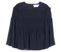 Gesmokte Bluse aus Baumwolle