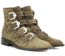 Ankle Boots Elegant aus Veloursleder