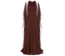 Bodenlanges Kleid aus Seidenchiffon
