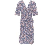 Kleid aus Stretch-Seide mit Rüschen