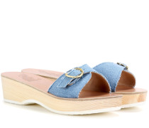 Plateausandalen Filia aus Denim
