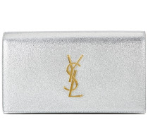 Clutch Classic Monogram aus Metallic-Leder