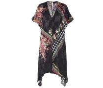 Bedrucktes Kleid aus einem Seidengemisch