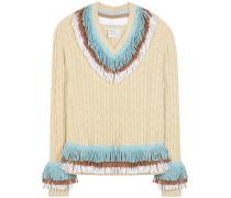 Verzierter Strickpullover aus Cashmere und Baumwolle