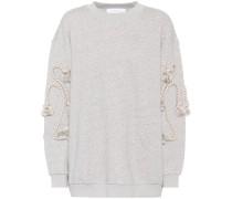 Verziertes Sweatshirt bin Baumwollanteil