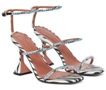 Verzierte Sandalen Gilda aus Satin