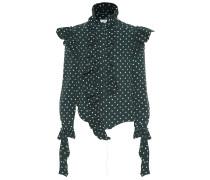 Gepunktete Bluse aus Crêpe