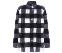 Wendbare Jacke aus Faux Fur und Lederimitat