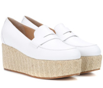 Plateau-Loafers Brucco aus Glattleder