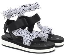 Sandalen aus Tüll