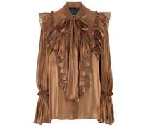 Plissierte Bluse aus Georgette
