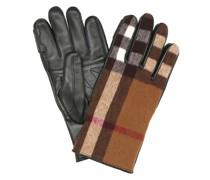 Handschuhe Vintage Check mit Leder