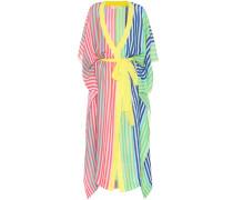 Kleid in Wickeloptik aus Leinengemisch