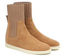 Ankle Boots Cocoon aus Veloursleder