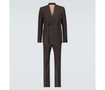 Karierter Anzug GG aus Wolle