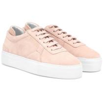Sneakers Platform aus Veloursleder