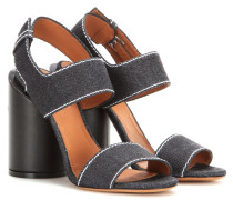 Denim-Sandalen Edgy