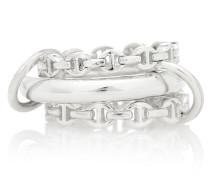 X Hoorsenbuhs Ring Microdame aus Sterlingsilber