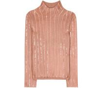 Verzierter Pullover aus einem Woll-Mohairgemisch