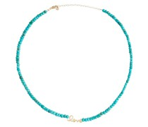 Verzierte Halskette Love aus 14kt Gelbgold