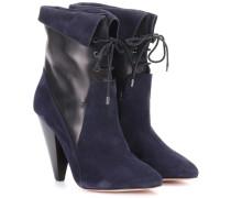 Ankle Boots Hawthorne Fine aus Leder und Veloursleder