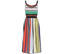 Gestreiftes Kleid mit Baumwolle
