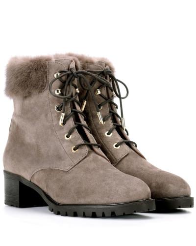 Aquazzura Damen Ankle Boots The Heilbrunner aus Veloursleder Bester Lieferant Verkauf Outlet-Store Wo Niedrigen Preis Kaufen Neuer Stil Günstig Kaufen Niedrigen Preis Xi3Sn0MR