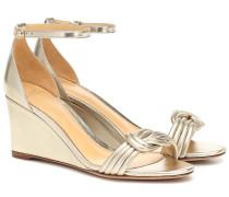 Wedge-Sandalen Vicky aus Leder
