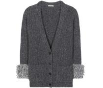 Oversize-Cardigan aus einem Woll-Alpakagemisch