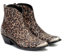 Bedruckte Ankle Boots Young