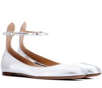Garavani Ballerinas Tan-Go aus Metallic-Leder