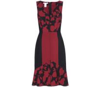 Bedrucktes Kleid aus Wollgemisch