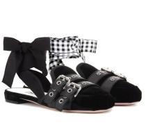 Slippers aus Samt
