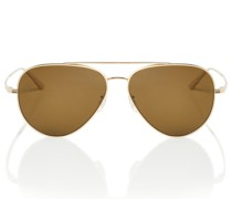 X Oliver Peoples Aviator-Sonnenbrille Casse