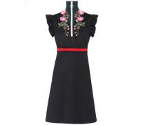 Besticktes Jersey-Kleid