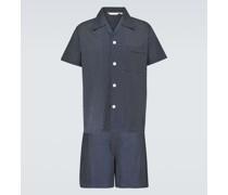 Pyjama Plaza Shortie aus Baumwolle