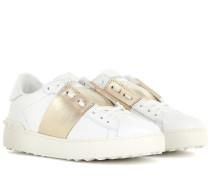 Sneakers Open aus Leder