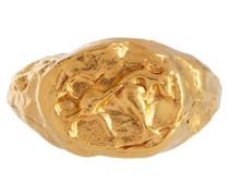Vergoldeter Ring Taurus aus Sterlingsilber