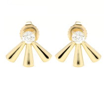 Ohrringe aus 18kt Gelbgold mit weißen Diamanten