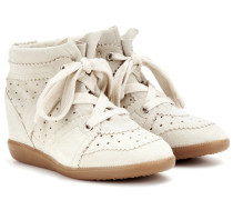 Étoile Wedge-Sneakers Bobby aus Veloursleder