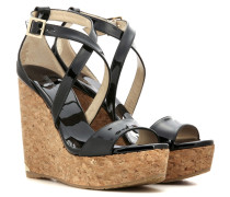 Wedge-Sandalen Portia 120 aus Lackleder