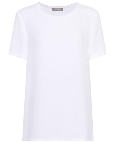 T-Shirt Clarino aus Seiden-Crêpe