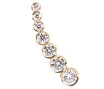 Einzelner Ohrring Petite Croissant de Lune aus 18kt Gelbgold und Diamanten