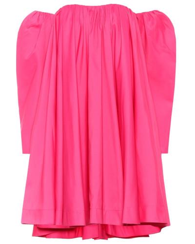 Schulterfreies Kleid mit Seidenanteil