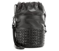 Bucket-Bag Small mit Intrecciato-Leder