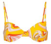 Bedrucktes Bikini-Oberteil