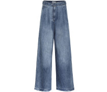 High-Rise Jeans Stella mit weitem Bein
