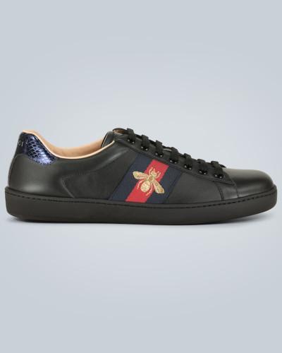 Bestickte Sneakers Ace Black Bee