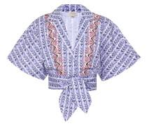 Cropped-Bluse Poet aus Baumwolle